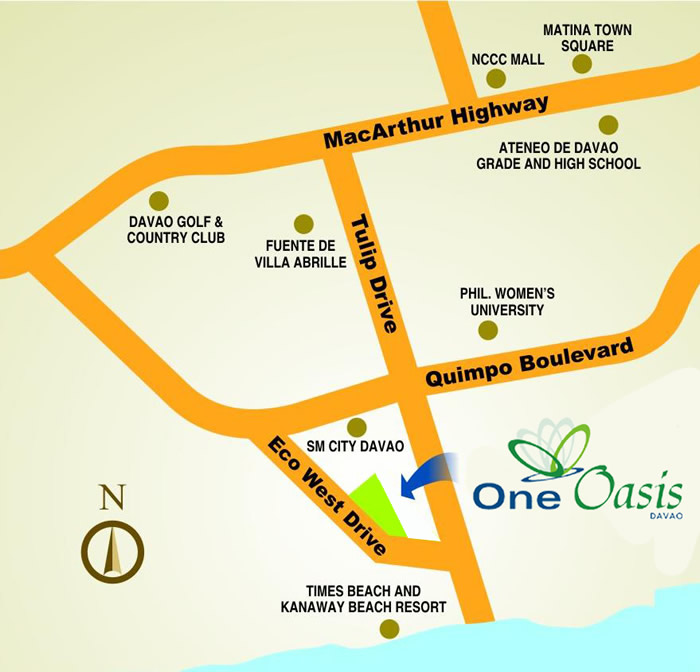 One Oasis Davao  Map
